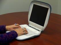 Utilizador de la computadora portátil Foto de archivo libre de regalías