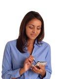 Utilizador de PDA Foto de archivo libre de regalías