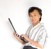 utilizador del ordenador portable imagen de archivo libre de regalías