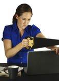 Utilizador frustrado del ordenador Foto de archivo