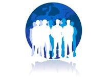 Utilizadores globales de la comunidad del Web stock de ilustración