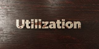 Utilization - grungy wooden headline on Maple  - 3D rendered royalty free stock image. This image can be used for an online website banner ad or a print Stock Images