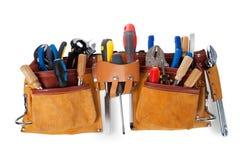 Utilize ferramentas a correia com as ferramentas isoladas no fundo branco fotografia de stock royalty free