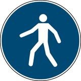 Utilizzi questo passaggio pedonale - il baccano obbligatorio 7010 del segno royalty illustrazione gratis