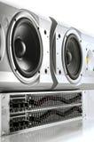 Utjämnare och högtalare Fotografering för Bildbyråer