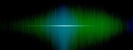 Utjämnare solid våg, vågfrekvenser, abstrakt bakgrund för ljus som är ljus, laser Röda solida vågor som svänger abstrakt musik Fotografering för Bildbyråer