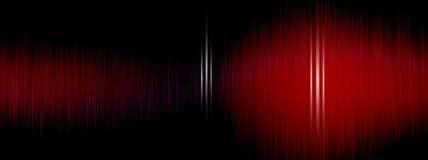 Utjämnare solid våg, vågfrekvenser, abstrakt bakgrund för ljus som är ljus, laser Röda solida vågor som svänger abstrakt musik Arkivfoton