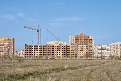 Utkantstad av Aktobe Arkivbild