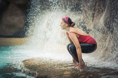 Utkatasana Royalty Free Stock Photography