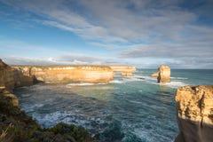 Utkik för fjordArd klyfta för Australien för 12 apostlar väg stor hav Arkivfoto