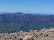 Utkik från bergskedja Arkivbild