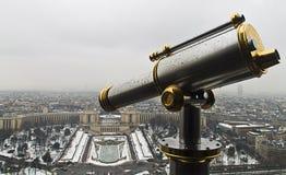 Utkik från Eiffeltorn med Trocadero Squaer på bakgrunden Fotografering för Bildbyråer