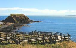 Utkik på Phillip Island, Australien Arkivbilder