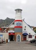 Utkikdäckrestaurangen, Plettenberg fjärd, Sydafrika Arkivbilder