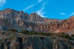 Utkikmaximum som sett från Ophir Pass Colorado Royaltyfri Fotografi