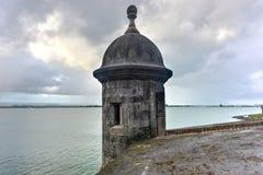 Utkiktorn - gamla San Juan, Puerto Rico Royaltyfri Bild