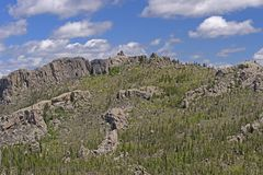 Utkiktorn i bergen arkivbild
