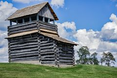 Utkiktorn på det Groundhog berget - blåa Ridge Parkway, Virginia, USA Royaltyfri Fotografi