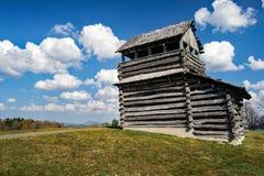 Utkiktorn på det Groundhog berget - blåa Ridge Parkway, Virginia, USA Arkivfoton