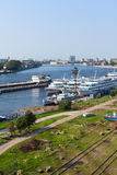 Utkin Creek pier in St. Petersburg, Russia Royalty Free Stock Photography