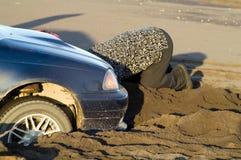 utknęła piasek. Obrazy Royalty Free