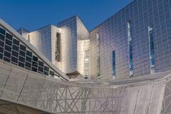Utläggning-, kongress- och handelmässamitt i Malaga, Spanien arkivfoto