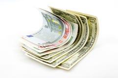 utländsk valuta Arkivfoto