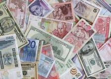 utländsk valuta Arkivbilder