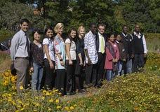 utländska deltagare Arkivfoto
