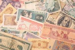 utländska pengar Fotografering för Bildbyråer