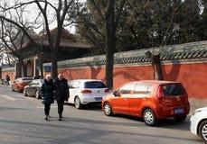 Utländska turister i Beijing Fotografering för Bildbyråer