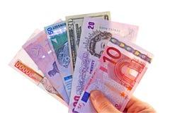 utländska valutor Arkivfoton