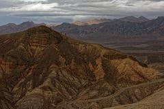 Utlöpare på Zabriskie punkt, Death Valley nationalpark, Kalifornien Royaltyfri Foto