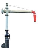 Utloppsrör för kolonn för kran för vatten för ångadrevmotor Royaltyfri Foto