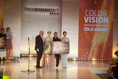 Utmärkelse 2017 för Wella trendvision Arkivfoto
