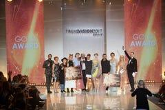 Utmärkelse 2017 för Wella trendvision Fotografering för Bildbyråer
