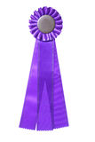 utmärkelse isolerad purpur bandwhite Arkivfoton