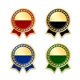 Utmärkelseband den bästa uppsättningen royaltyfri illustrationer