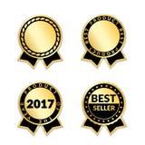 Utmärkelseband uppsättningen för bästa säljare stock illustrationer
