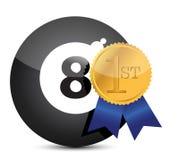 utmärkelseboll åtta som segrar stock illustrationer