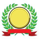 utmärkelseguld royaltyfri illustrationer