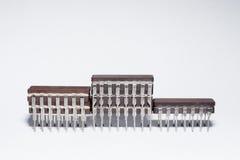 Utmärkelsepodiet som göras av elektroniska chiper Arkivbilder