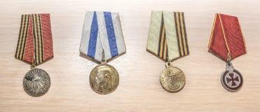 Utmärkelser av den ryska välden, det 19th århundradet Fotografering för Bildbyråer