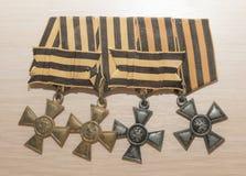 Utmärkelser av den ryska välden - George Cross, 19th århundrade Arkivbilder