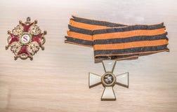 Utmärkelser av den ryska välden - George Cross, 19th århundrade Royaltyfri Foto