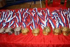Utmärkelser för idrottsman nen royaltyfria foton