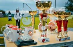 Utmärkelser för utställare av hundkapplöpning i Ukraina Royaltyfri Fotografi