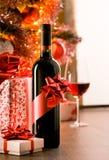 Utmärkt gåva för vinflaska Royaltyfri Foto