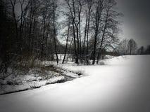 Utmärkt vinterlandskap Fotografering för Bildbyråer