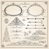 Utmärkta Calligraphic ramar Fotografering för Bildbyråer
